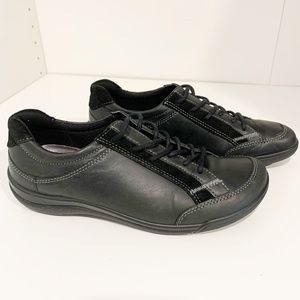 Ecco Black Leather Sneakers Shoes 37 EU / 6-6.5 US